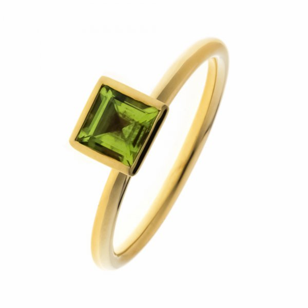 A.Odenwald Ring Scampolo Gelbgold mit Peridot