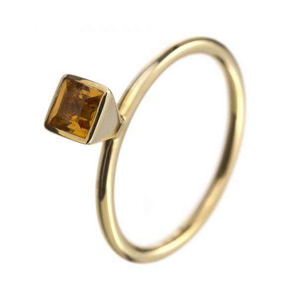 A.Odenwald Ring Scampolo Gelbgold mit Lemon Citrin
