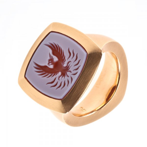 Petra Giers Ring Feuervogel 750 Rotgold