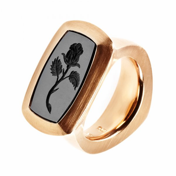 Petra Giers Ring Rose 750 Rotgold