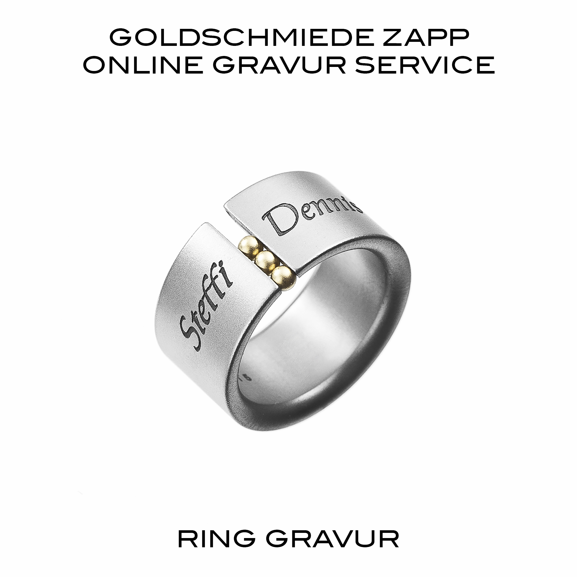 edelstahl ring gravieren goldschmiede juwelier zapp seit 1907. Black Bedroom Furniture Sets. Home Design Ideas